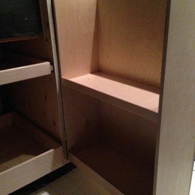 Below sink cupboard made
